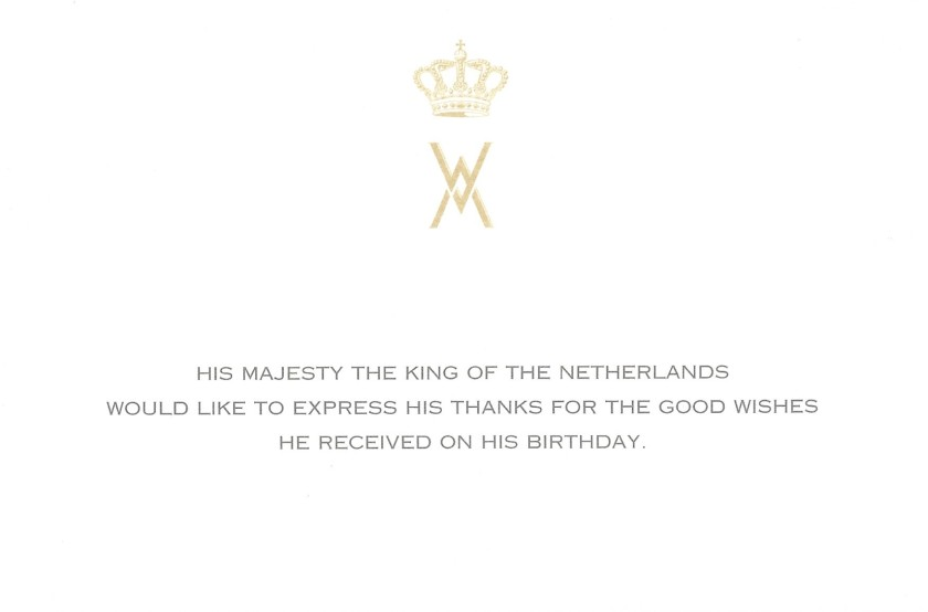 Willem-Alexander, King of the Netherlands 53rd Birthday