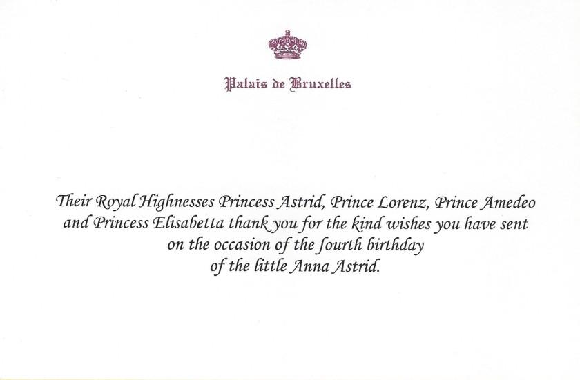 Archduchess Anna Astrid of Austria-Este 4th Birthday