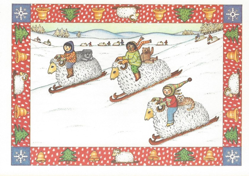 Beatrix and Claus Christmas Card Front