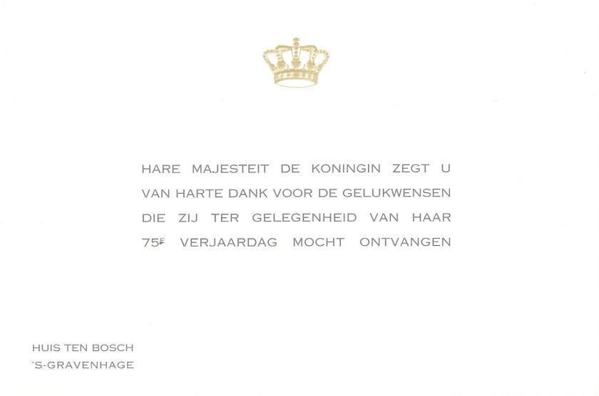 Beatrix, Queen of the Netherlands 75th Birthday