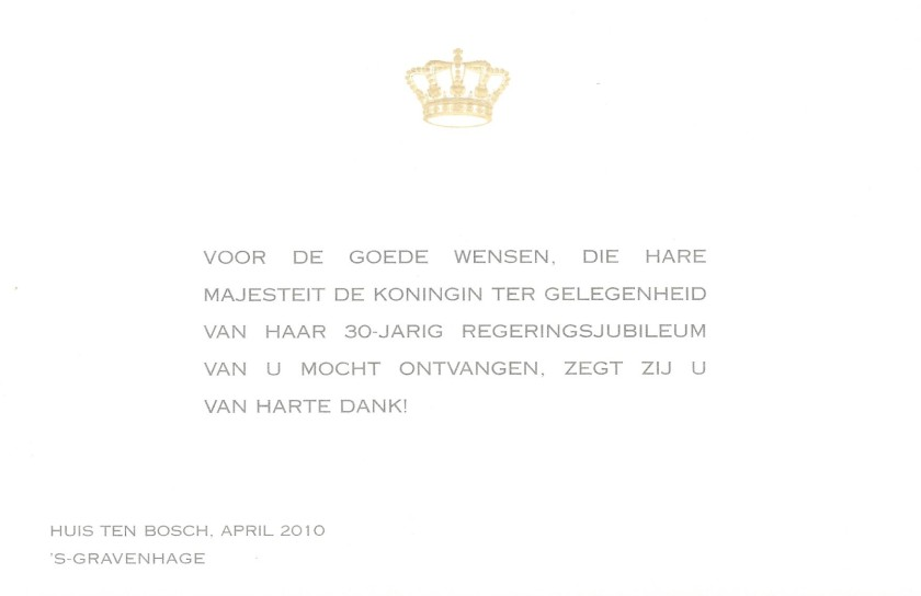 Beatrix, The Queen of the Netherlands 30th Throne Anniversary
