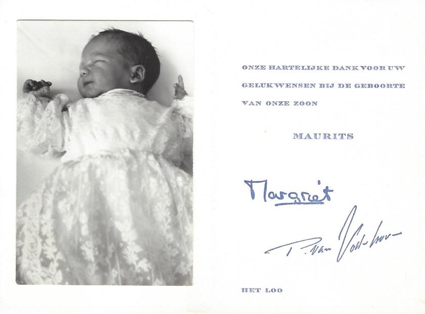 Birth of Prince Maurits