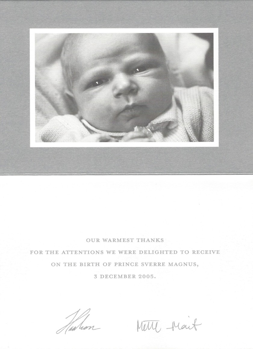 Birth of Prince Sverre Magnus of Norway Card