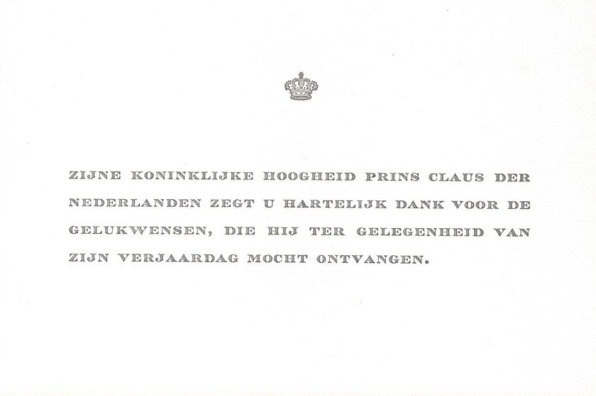 Claus, The Prince Consort of the Netherlands 55th Birthday