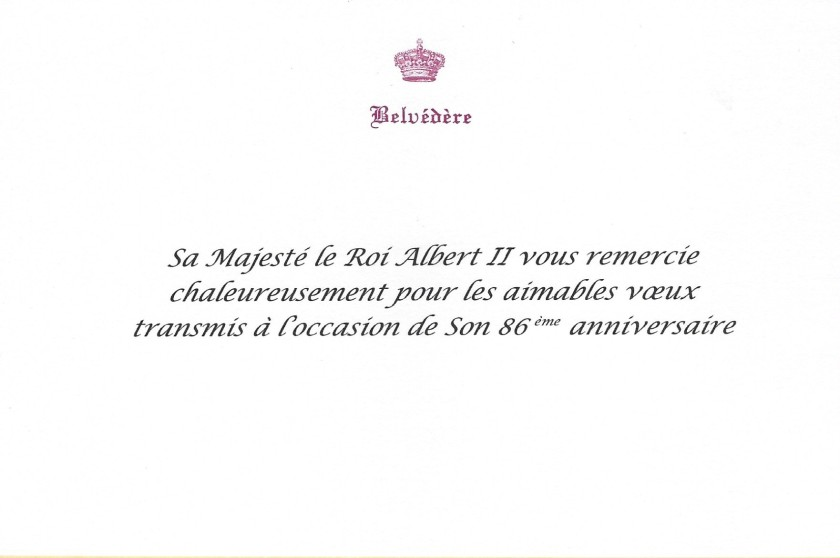 King Albert II of Belgium 86th Birthday