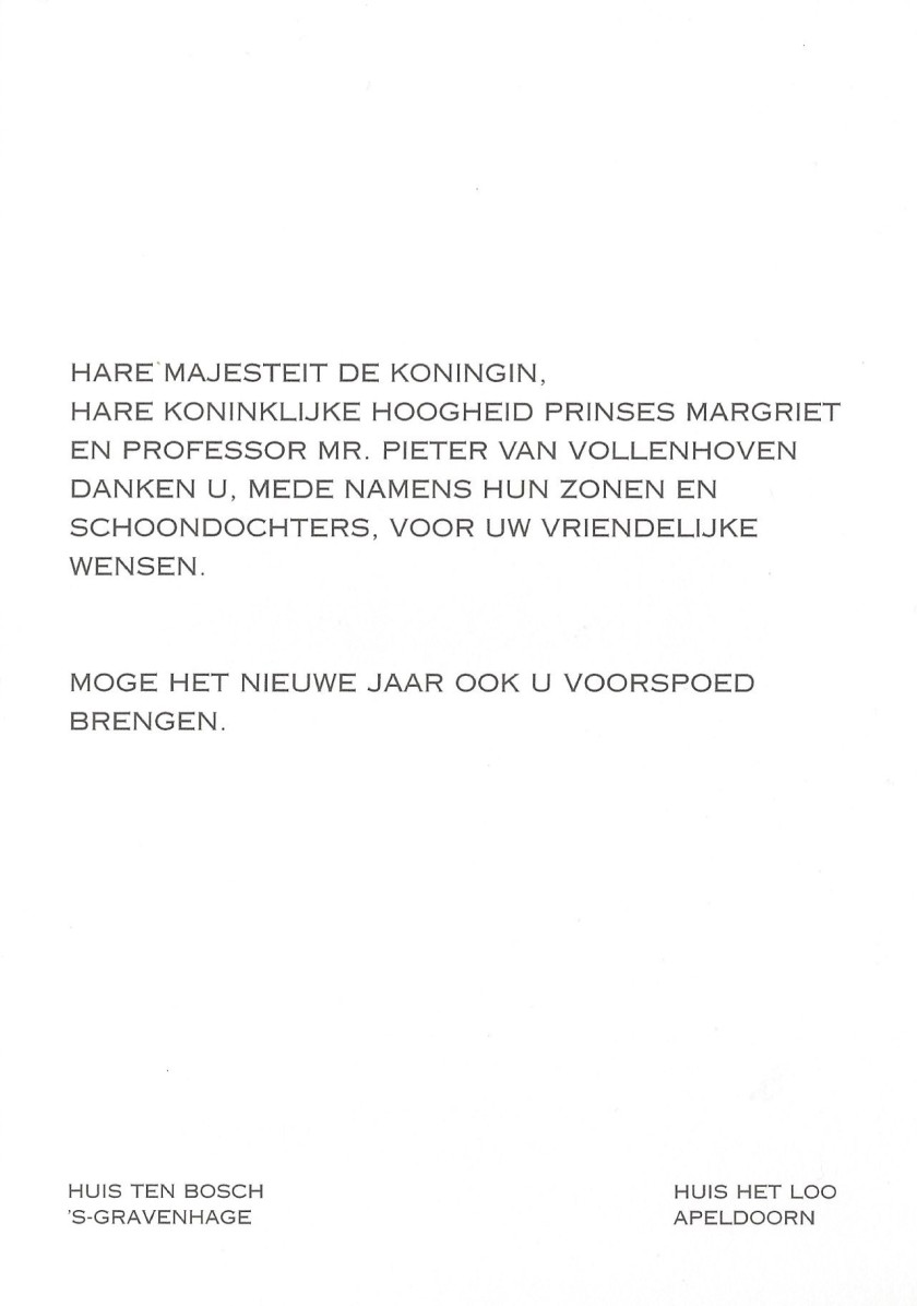 Margriet and Pieter Christmas Message