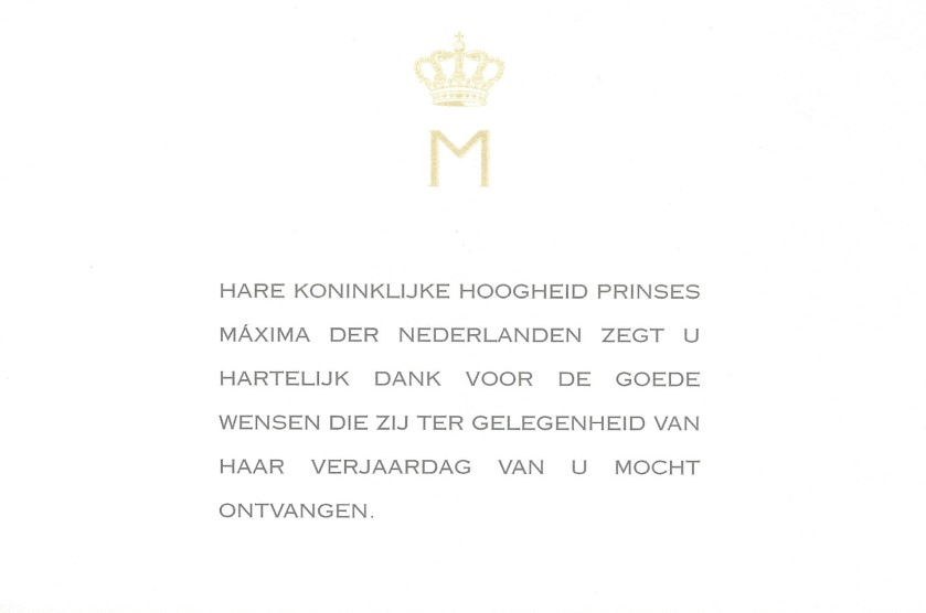 Maxima of the netherlands 33rd birthday