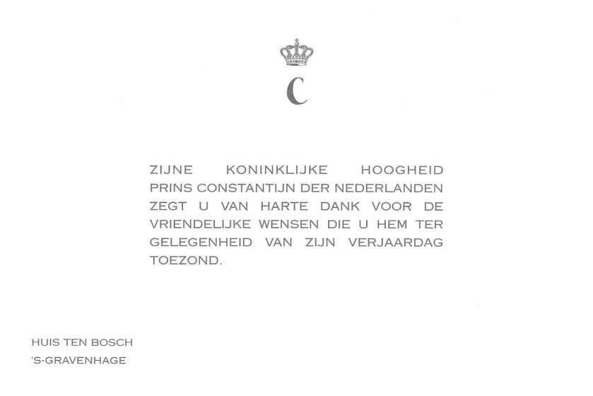 Prince Constantijn of the Netherlands 41st birthday