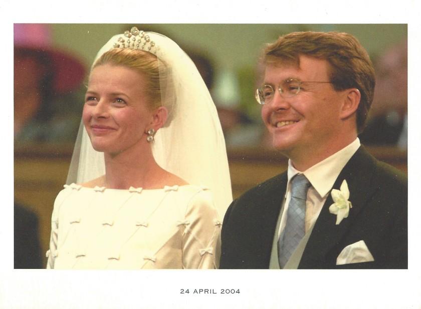 Prince Friso and Princess Mabel Wedding Card Front