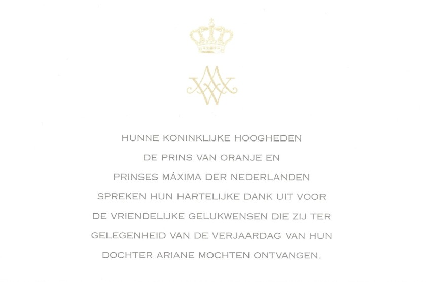Princess Ariane of the Netherlands 2nd Birthday