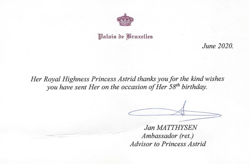 Princess Astrid of Belgium's 58th Birthday