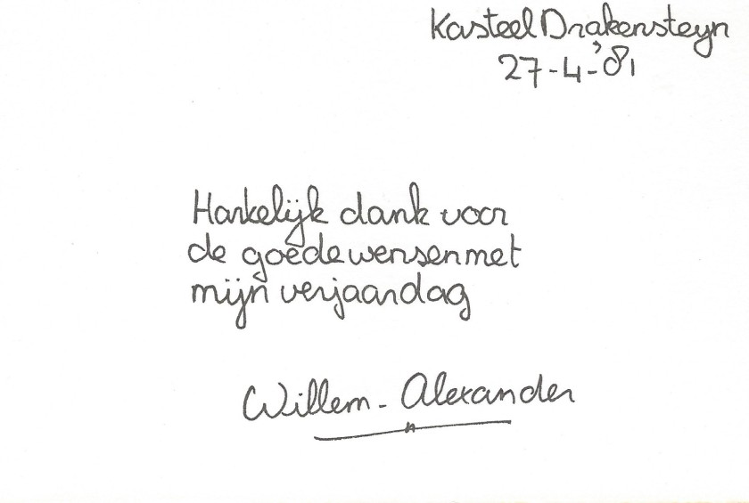 Willem-Alexander 14th Birthday