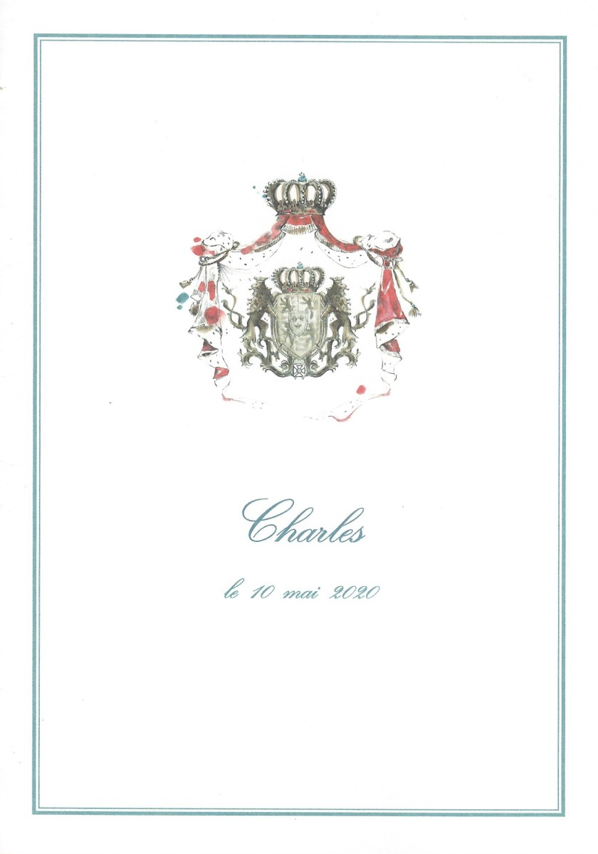Birth of Prince Charles of Luxembourg Card Front