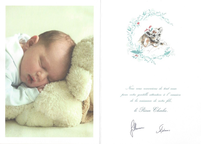 Birth of Prince Charles of Luxembourg Card