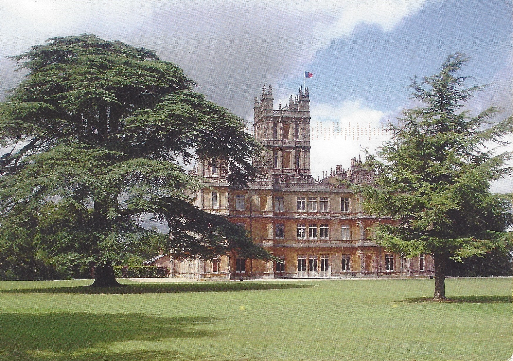 Lord and Lady Carnarvon postcard Picture Highclere Castle