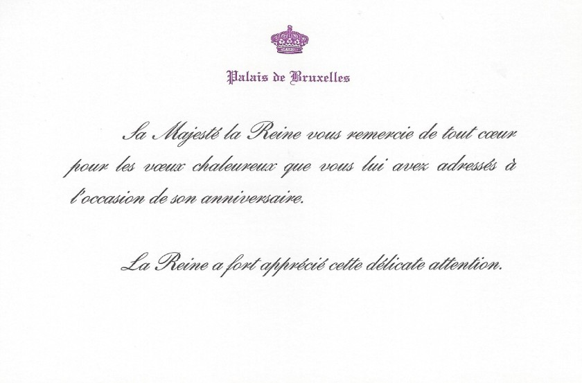 Mathilde, The Queen of The Belgians 45th Birthday Card